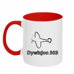 Two-toned mug Polish Division 303