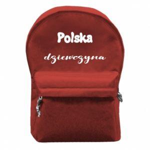 Plecak z przednią kieszenią Polska Dziewczyna