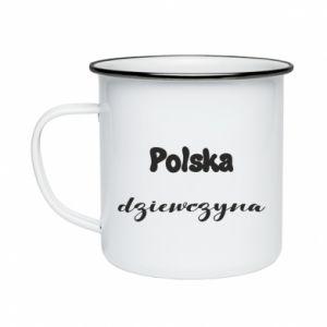 Kubek emaliowane Polska Dziewczyna