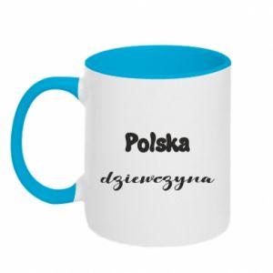 Kubek dwukolorowy Polska Dziewczyna