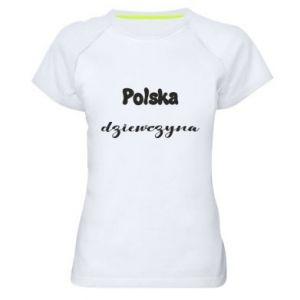 Damska koszulka sportowa Polska Dziewczyna