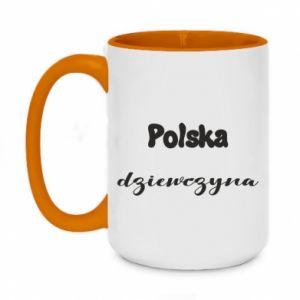 Kubek dwukolorowy 450ml Polska Dziewczyna