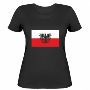 Women's t-shirt Polish flag and coat of arms
