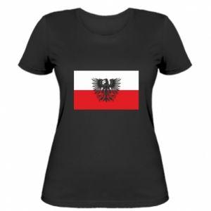 Koszulka damska Polska flaga i herb