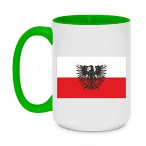 Two-toned mug 450ml Polish flag and coat of arms