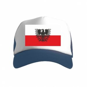 Kid's Trucker Hat Polish flag and coat of arms