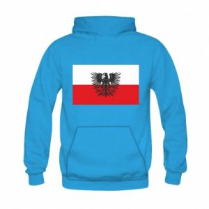 Kid's hoodie Polish flag and coat of arms