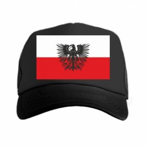 Trucker hat Polish flag and coat of arms