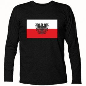 Long Sleeve T-shirt Polish flag and coat of arms