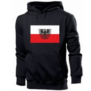 Men's hoodie Polish flag and coat of arms