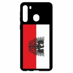 Samsung A21 Case Polish flag and coat of arms