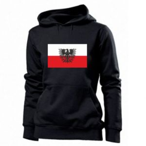 Women's hoodies Polish flag and coat of arms