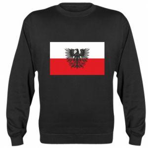 Sweatshirt Polish flag and coat of arms
