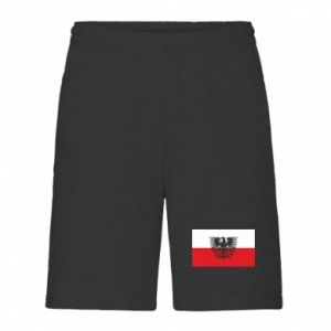 Men's shorts Polish flag and coat of arms