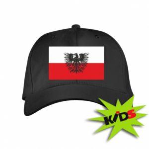 Czapeczka z daszkiem dziecięca Polska flaga i herb