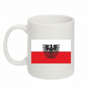 Kubek 330ml Polska flaga i herb