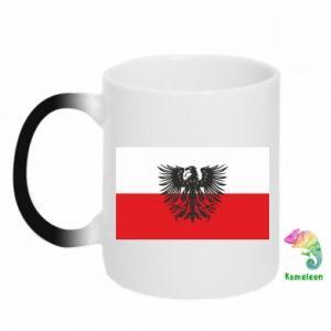 Kubek-kameleon Polska flaga i herb