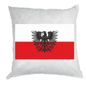 Pillow Polish flag and coat of arms
