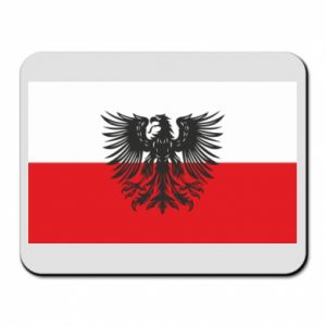 Mouse pad Polish flag and coat of arms