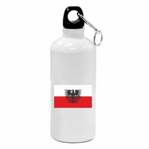 Water bottle Polish flag and coat of arms