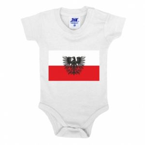Baby bodysuit Polish flag and coat of arms