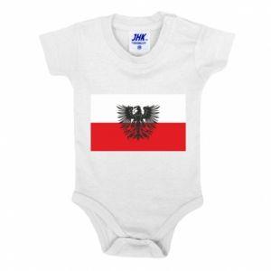 Body dziecięce Polska flaga i herb