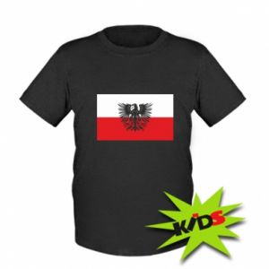 Kids T-shirt Polish flag and coat of arms