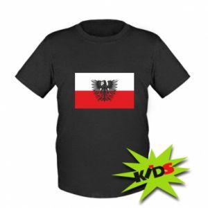Koszulka dziecięca Polska flaga i herb