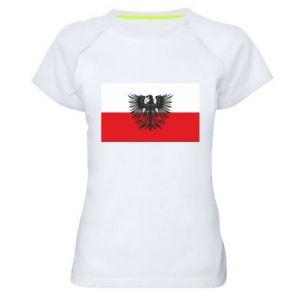 Koszulka sportowa damska Polska flaga i herb