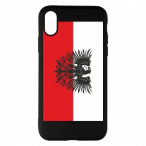Etui na iPhone X/Xs Polska flaga i herb