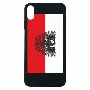Phone case for iPhone Xs Max Polish flag and coat of arms
