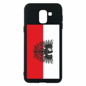 Phone case for Samsung J6 Polish flag and coat of arms
