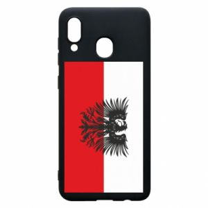 Phone case for Samsung A20 Polish flag and coat of arms
