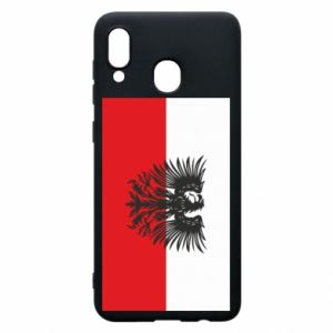 Phone case for Samsung A30 Polish flag and coat of arms
