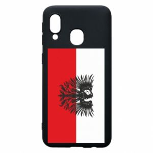 Phone case for Samsung A40 Polish flag and coat of arms