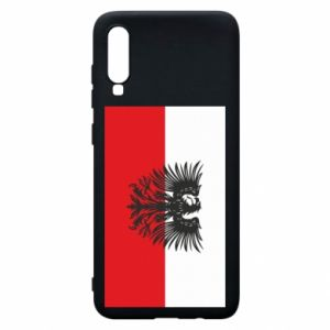 Phone case for Samsung A70 Polish flag and coat of arms