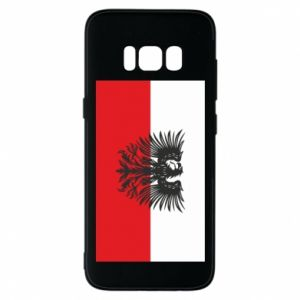 Phone case for Samsung S8 Polish flag and coat of arms
