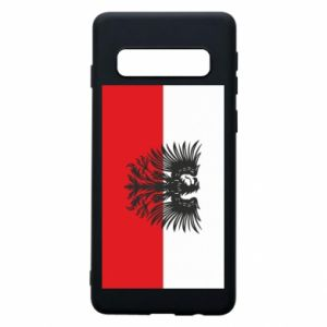 Phone case for Samsung S10 Polish flag and coat of arms