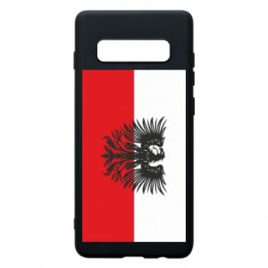 Phone case for Samsung S10+ Polish flag and coat of arms