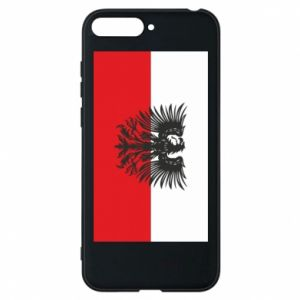 Phone case for Huawei Y6 2018 Polish flag and coat of arms