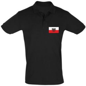Men's Polo shirt Polish flag and coat of arms