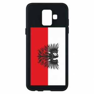 Phone case for Samsung A6 2018 Polish flag and coat of arms