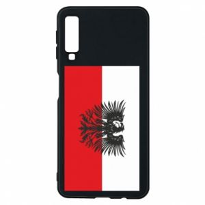 Samsung A7 2018 Case Polish flag and coat of arms