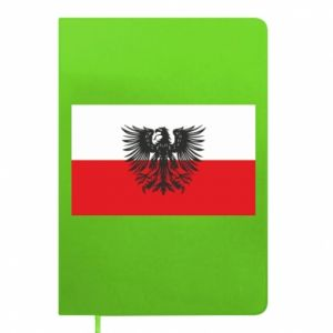 Notepad Polish flag and coat of arms