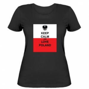 Women's t-shirt Polish flag with an inscription - PrintSalon