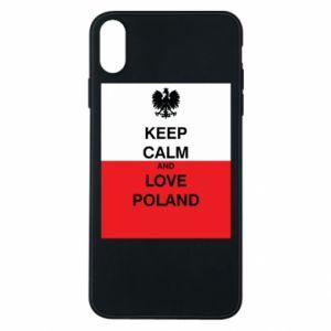 Etui na iPhone Xs Max Polska flaga z napisem