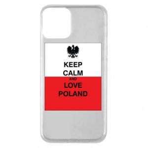 Etui na iPhone 11 Polska flaga z napisem