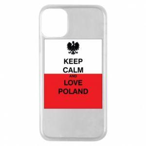 Etui na iPhone 11 Pro Polska flaga z napisem