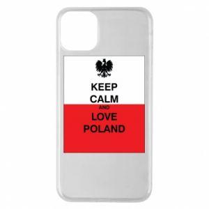 Etui na iPhone 11 Pro Max Polska flaga z napisem