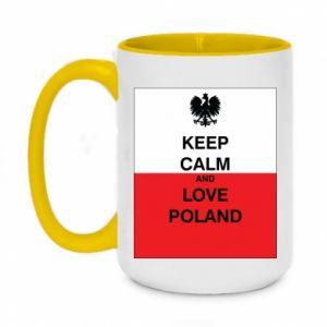 Kubek dwukolorowy 450ml Polska flaga z napisem